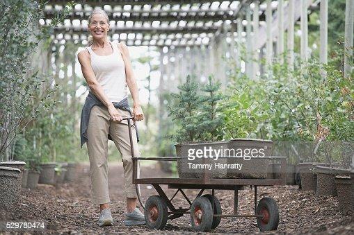 Woman shopping at garden center : Photo
