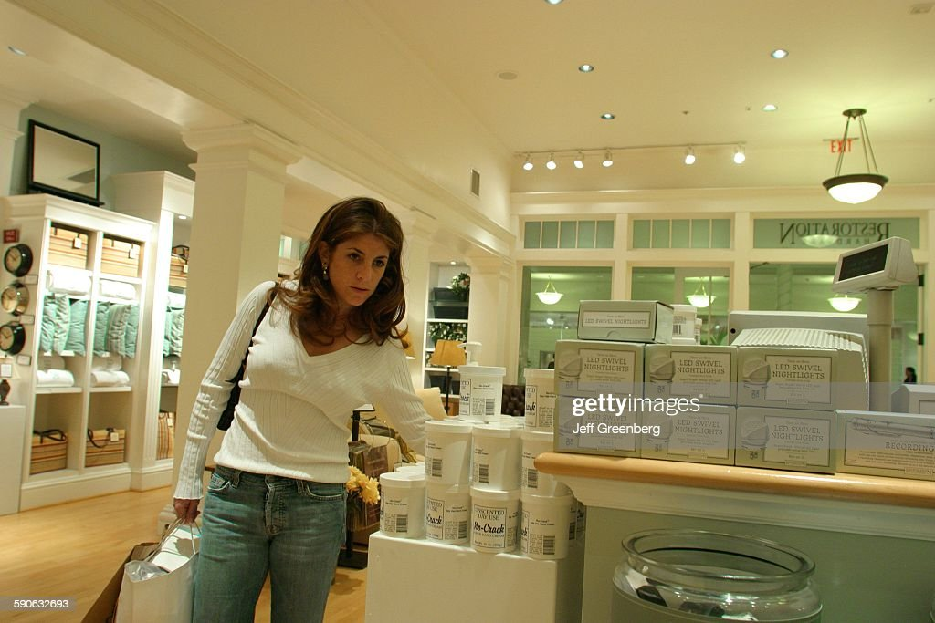 Woman Shopping At Restoration Hardware Home Furnishings Store Pictures Getty Images