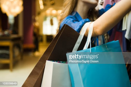 Woman shopping, cropped : Stock Photo