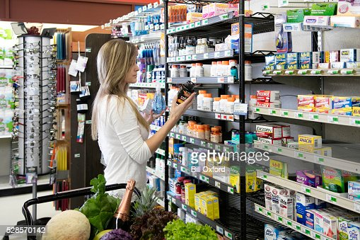 Woman shopping for health and beauty supplies