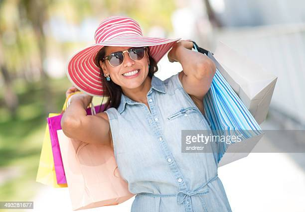 Woman shopping for the summer