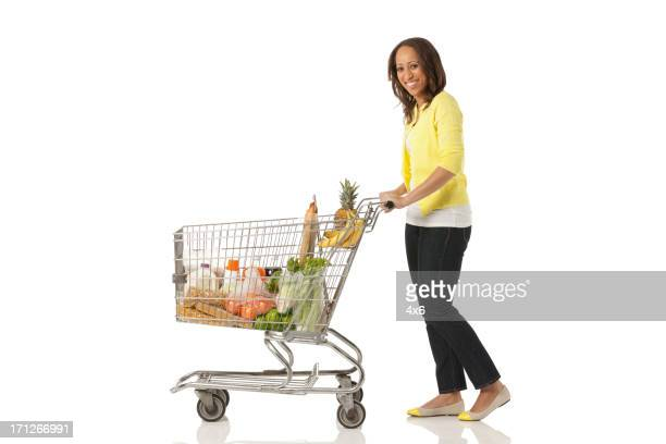 Woman shopping groceries