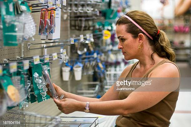 Woman Shopping in a hardware store