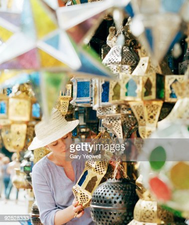 Woman shopping in a souk
