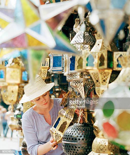 Woman shopping in a souk