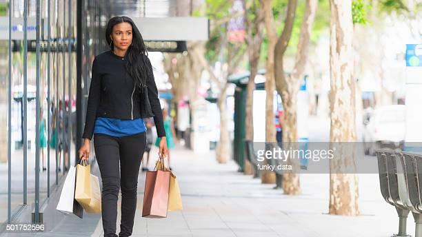 Woman shopping in Brisbane