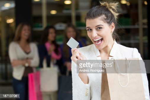 Woman shopping in mall : Stock Photo