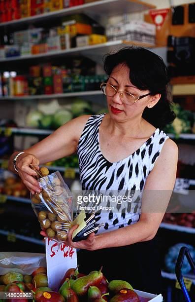 Woman shopping on Victoria Street, Richmond.