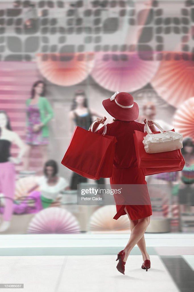 woman shopping : Stock Photo