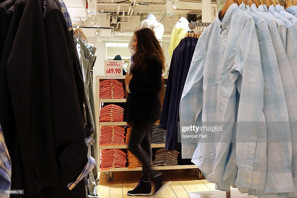 A woman shops in a clothing store on Broadway on February 7, 2013 in New York City. In another indicator of a slowly strengthening economy, chain stores including Macy's Inc., Target Corp and Gap Inc. reported today January sales that exceeded analysts' estimates.
