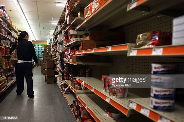 A woman shops in a discount food store September 30 2009 in Bridgeport Connecticut According to statistics from the US Census Bureau Connecticut...