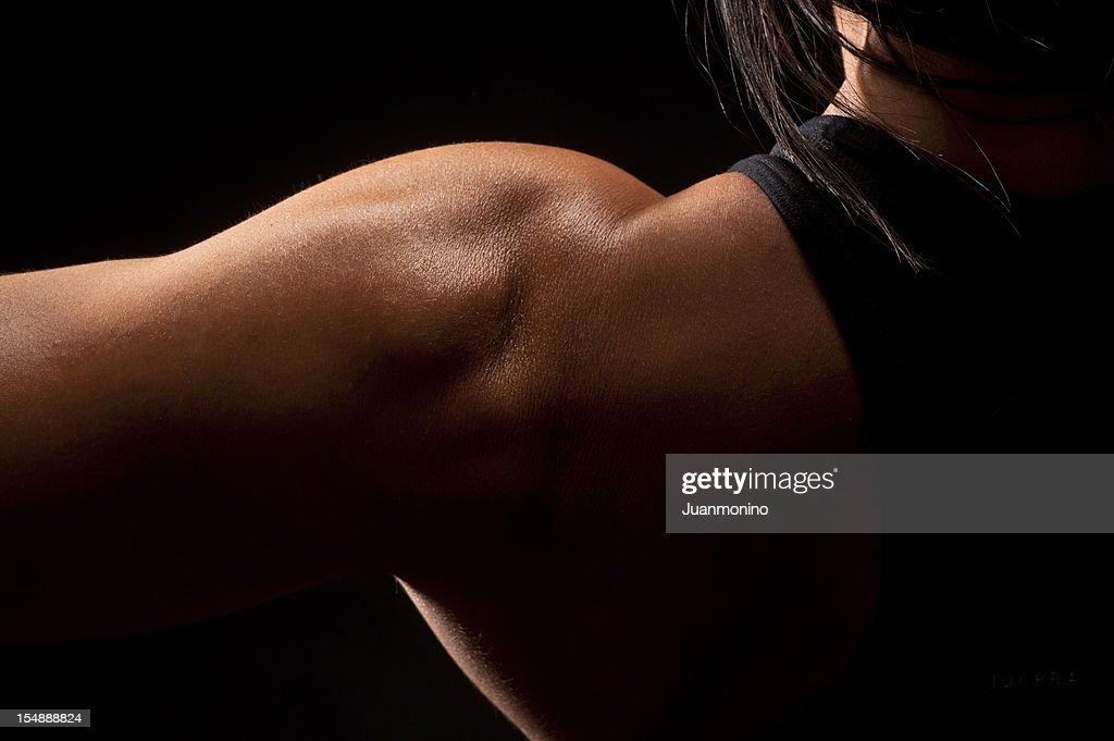 Woman shoulder