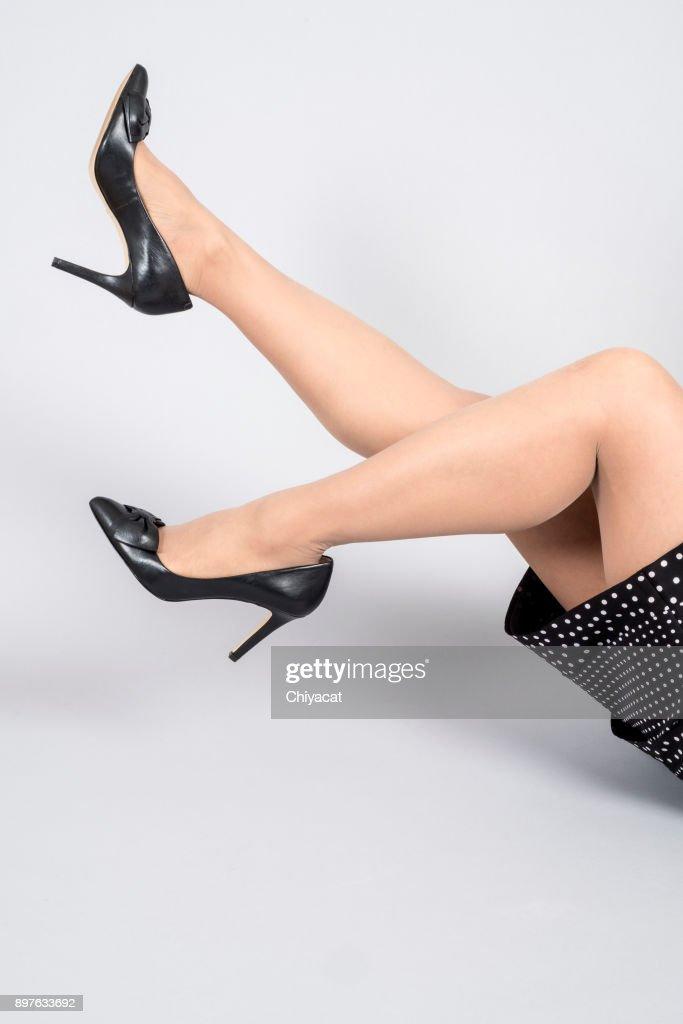 Black high heels with panties topic simply