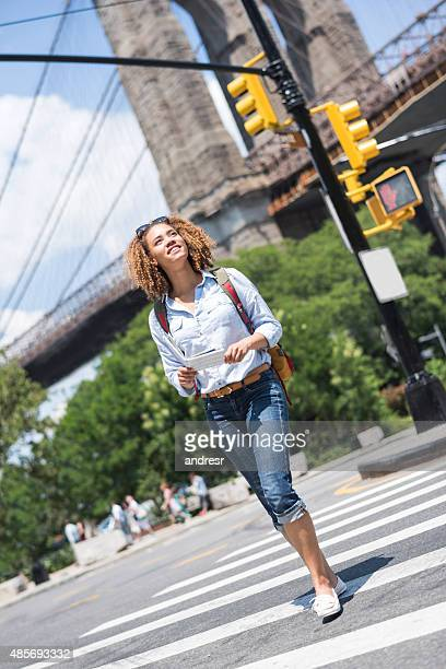 Woman sightseeing in New York