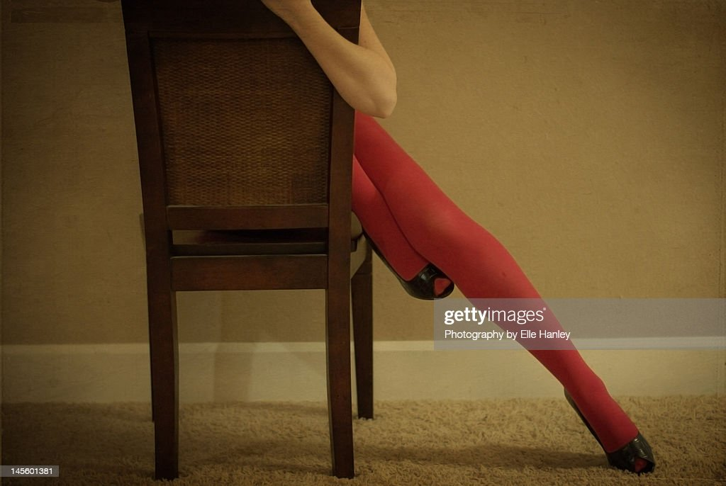 Woman sitting chair : Stock Photo