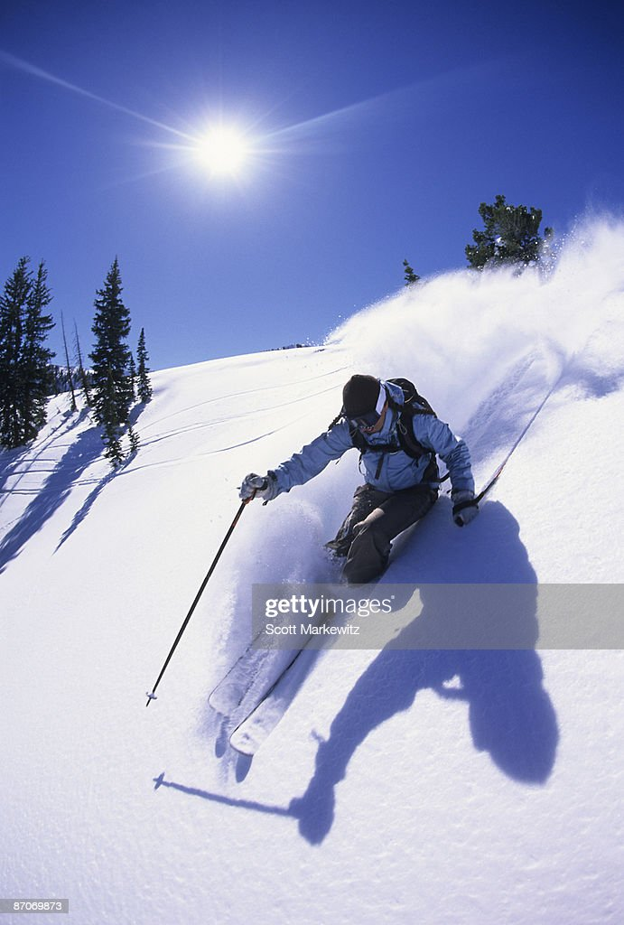 Woman skiing in Utah.