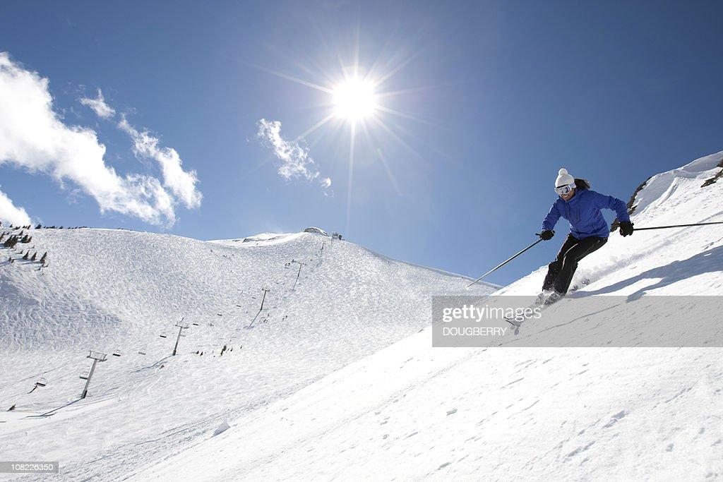 Woman skiing : Stock Photo