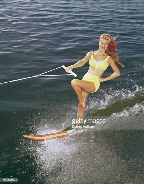 Woman Slalom Waterskiing