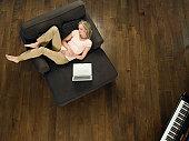 Woman Sleeping in Armchair