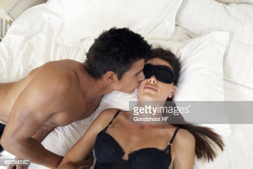 Woman Sleeping On Bed ...