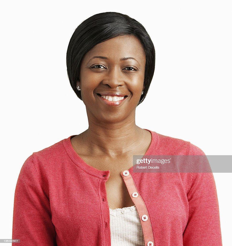 Woman smiling at camera : Stock Photo