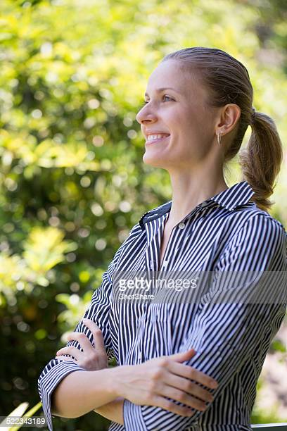 Frau Lächeln