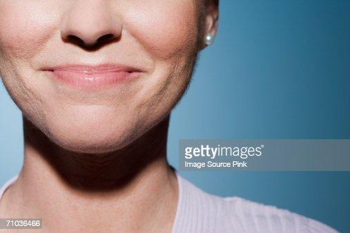 Woman smiling : Foto de stock