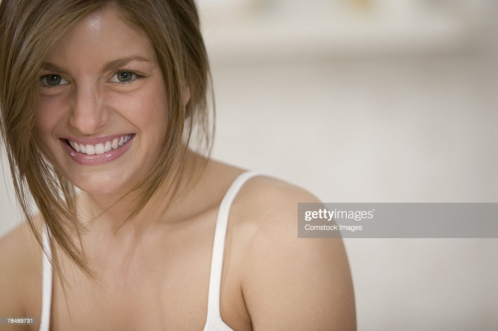 Woman smiling : Stock Photo
