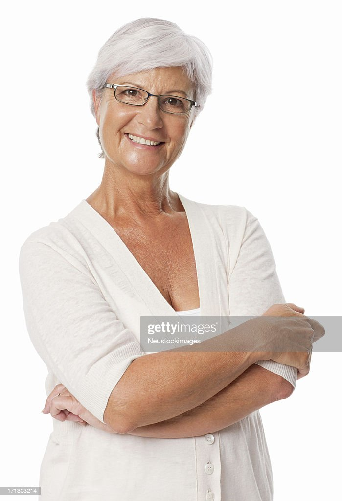 Woman Smiling With Arms Crossed - Isolated