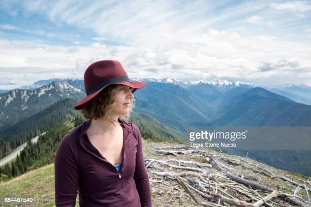 Woman Soaking in Nature