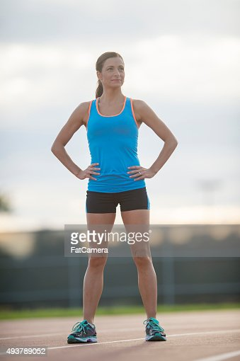 Woman Standing on a Track