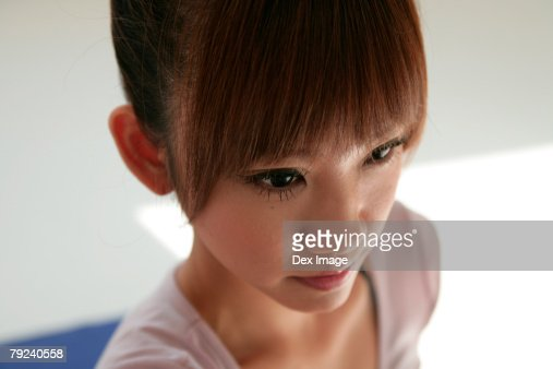 Woman stretching on a mat, close-up : Stock Photo