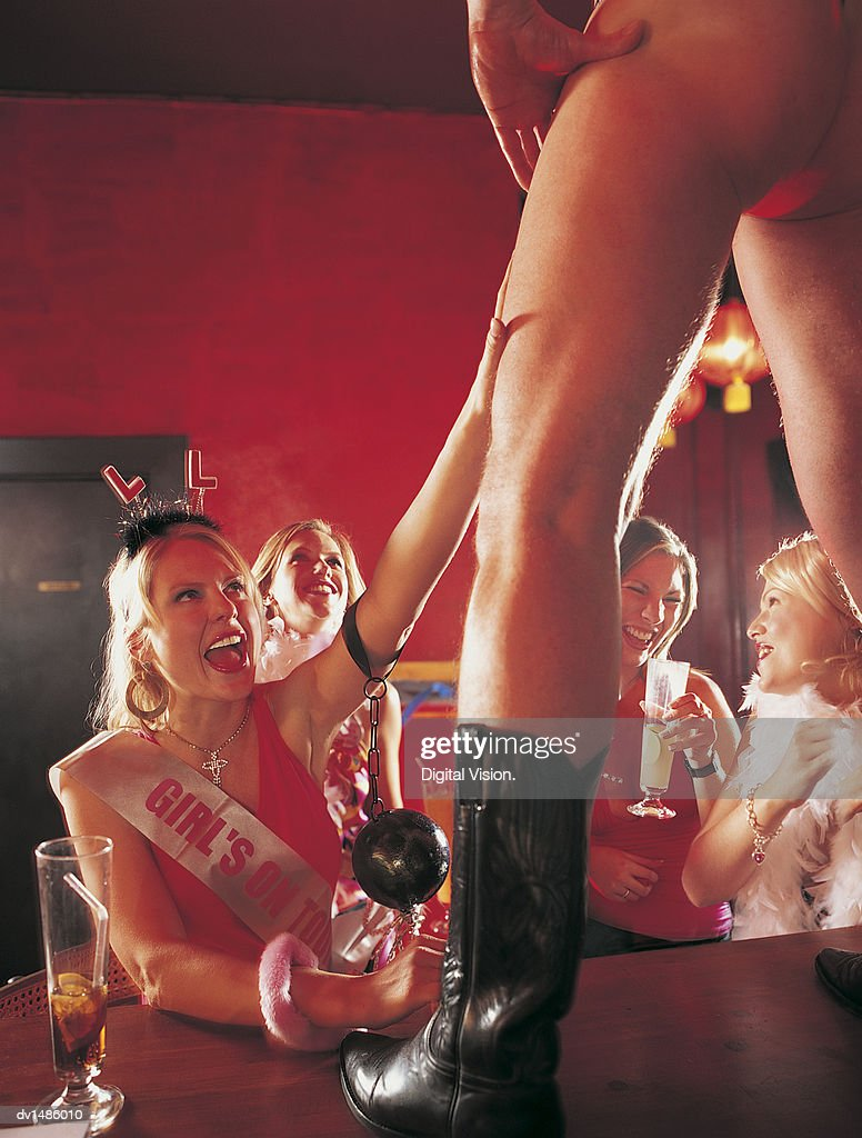 Male strip show for women