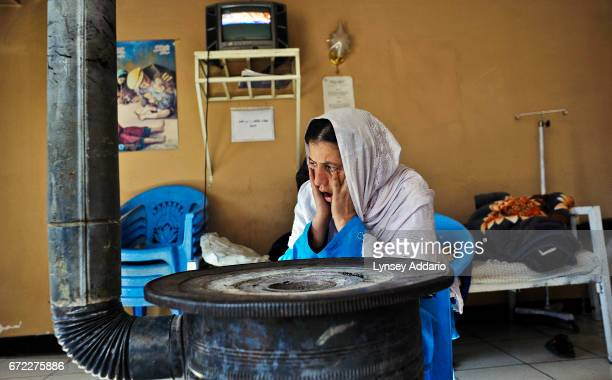 A woman struggles with her first few days of detoxification from heroin and opium in the Social Service for Afghan Women detoxification center in...