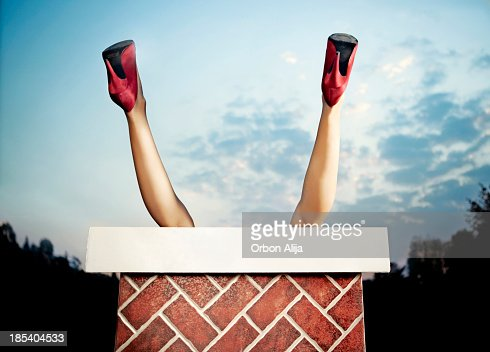 woman stuck in a chimney
