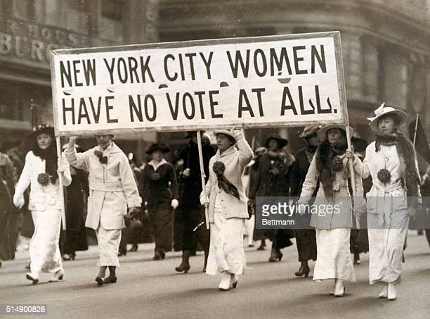 Woman suffrage New York City Women of the march