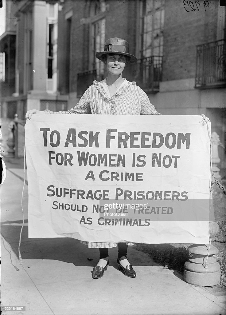 in focus women s suffrage in u s wins voting rights photos and w suffragist holds a picket sign washington dc circa 1917