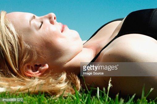 Sunbathing woman images 61