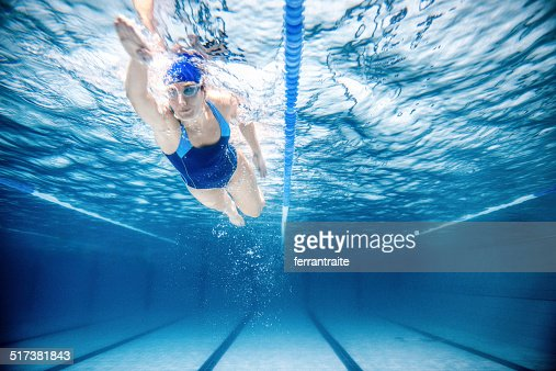 Woman Swimming Freestyle