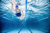 Woman Swimming Freestyle