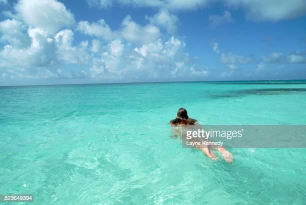 Woman Swimming in Shoal Bay