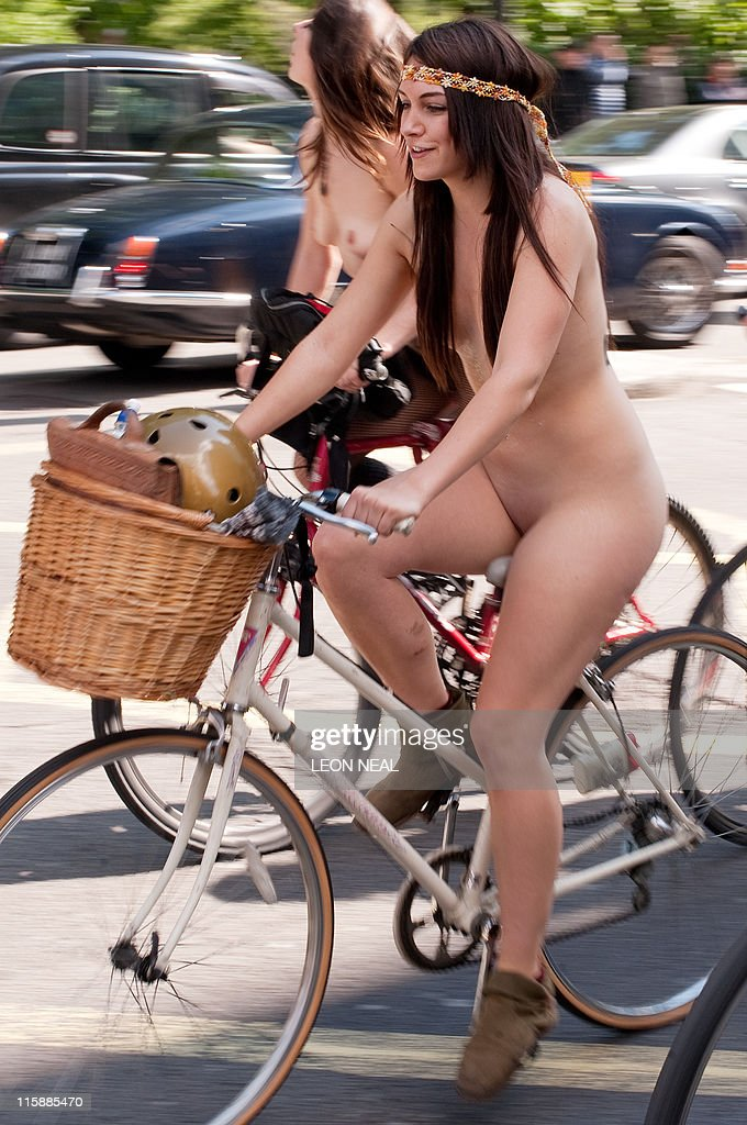 bike naked woman