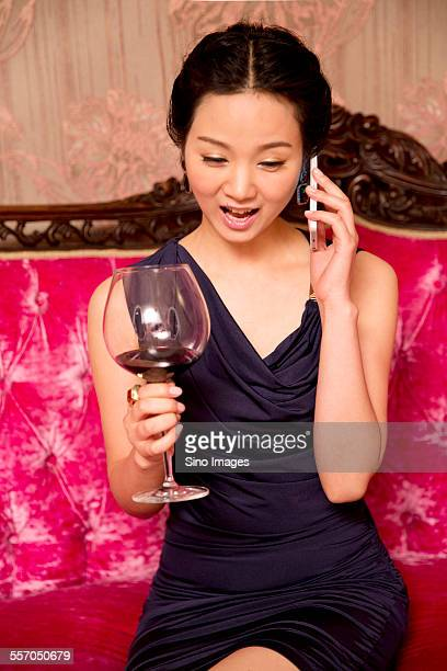 Woman Talking Happily on the Phone