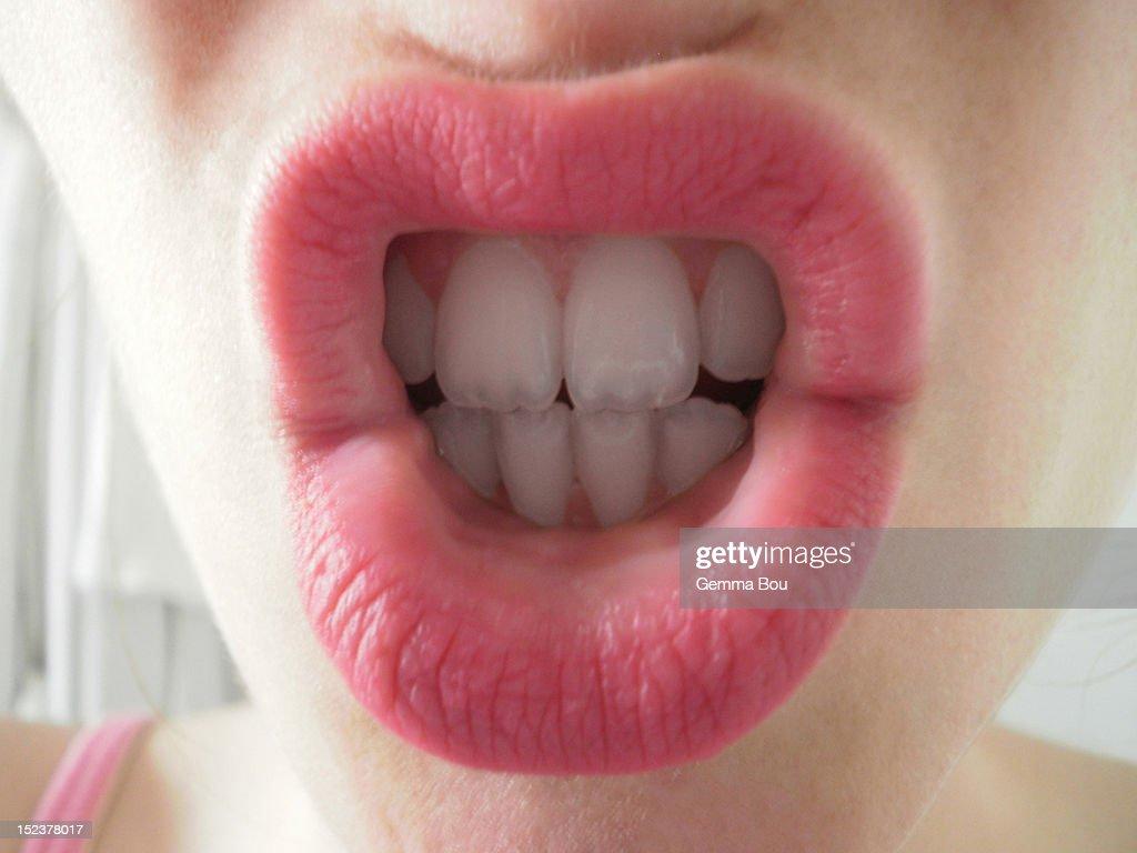 Woman teeth : Stock Photo