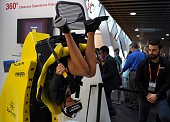 A woman tests the new 'Oculus VR' virtual device on the third day of the Mobile World Congress in Barcelona on February 24 2016 The world's biggest...