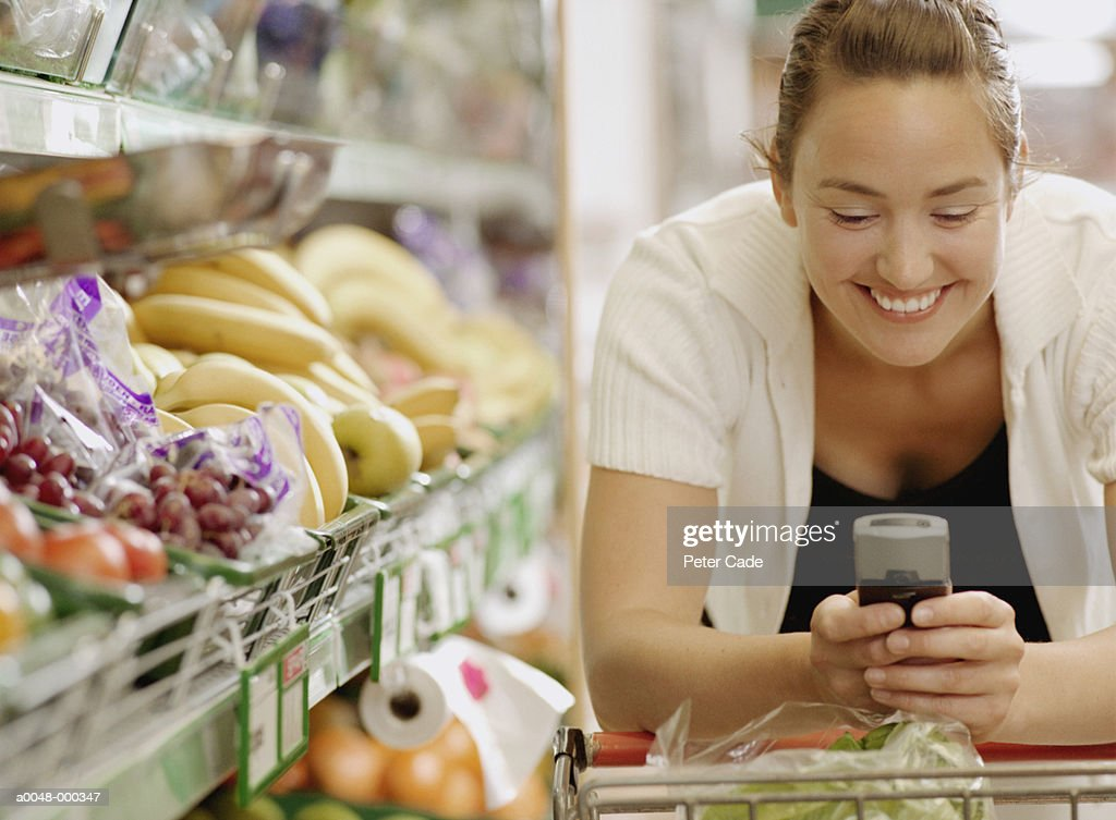 Woman Texting on Cell Phone : Stock Photo