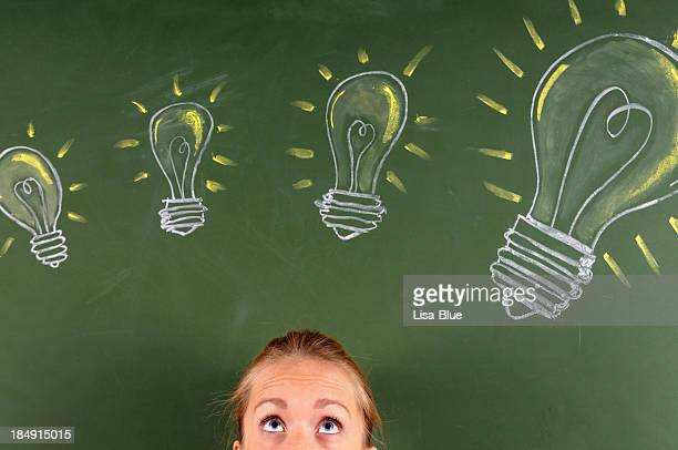 Frau denken Ideen