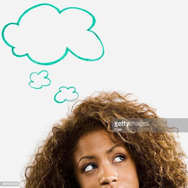 Woman Thinking of Idea