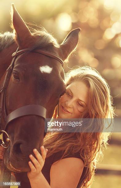 woman together with her horse