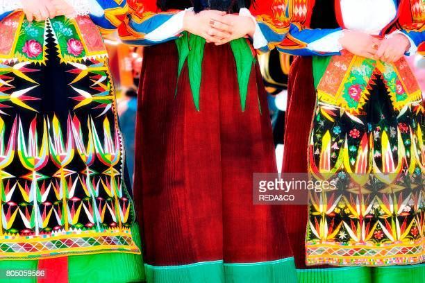 Woman traditional dress Orgosolo Barbagia Sardinia Italy Europe